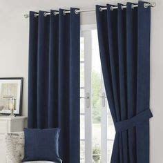 navy blue ready made curtains stella navy blue chenille ready made curtains 90 quot x 90