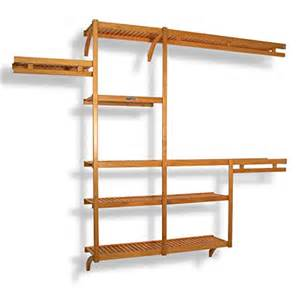 Wood Closet Organizer Systems by Wood Closet System Shelving Organizer Storage Wardrobe