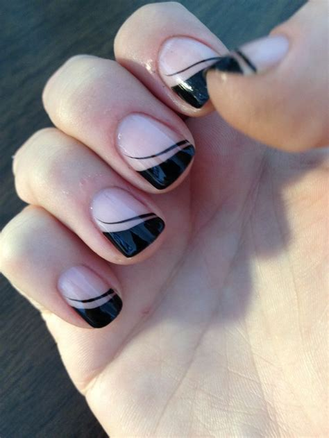 easy nail art tips 30 easy nail designs for beginners black french nails