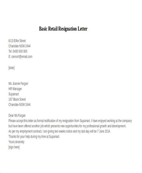 basic resignation letter sles 30 resignation letter exles