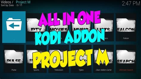 how to install project m project m kodi 17 5 krypton kodi tutorials