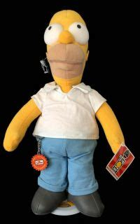 Boneka Homer Marge The Simpsons Original Applause le chat noir boutique applause s 300th episode homer limited edition plush doll