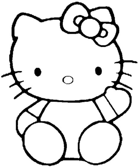 cute coloring pages hello kitty cute hello kitty waving hand coloring pages coloring