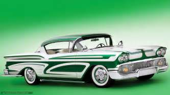 wallpaper chevrolet impala green car classic