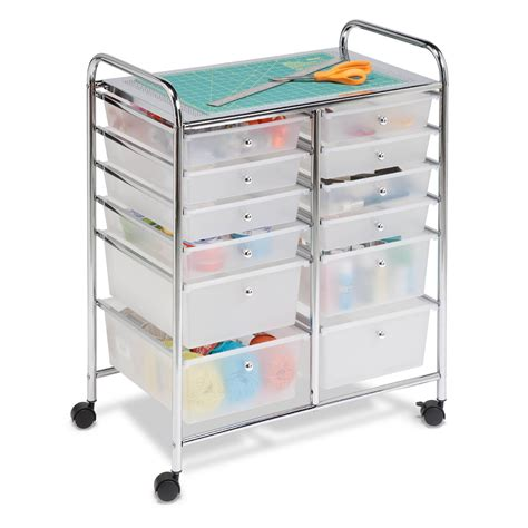 Drawer Rolling Storage Cart by Honey Can Do 12 Drawer Rolling Cart