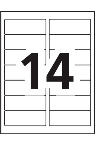 Avery 14 Labels Per Sheet Template by Avery 174 Mailing Labels 5159 Template 14 Labels Per Sheet