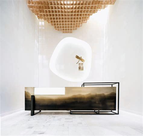 reception desk interior design high end interior design model room luxury design