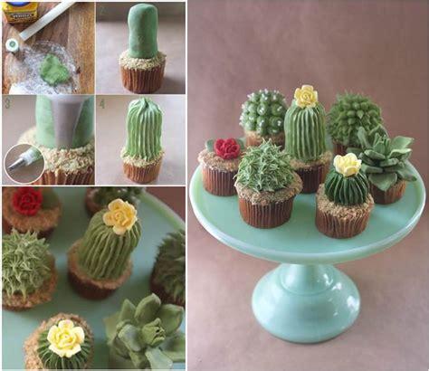 diy adorable succulent plant cupcakes