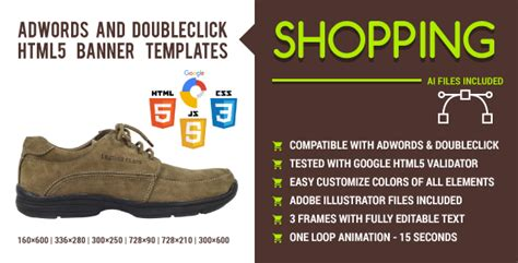 Shopping Adwords And Doubleclick Html5 Banner Templates Jogjafile Html5 Banner Template