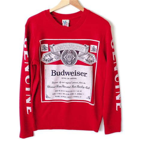 bud light christmas sweater urban outfitters budweiser beer tacky ugly sweater the