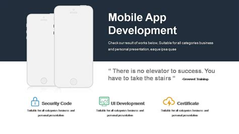 mobile app development template professional portfolio templates powerslides