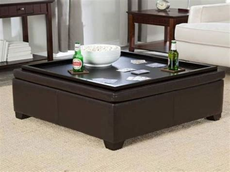 leather ottoman coffee table storage coffee table coffee table storage ottoman ottoman with