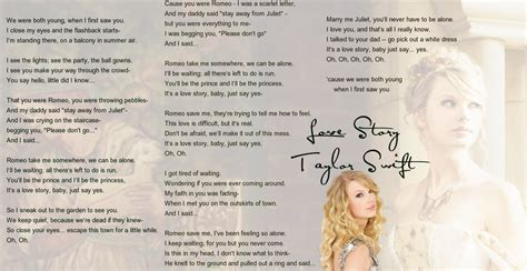 Printable Lyrics To Love Story By Taylor Swift | taylor swift love story lyrics by sapphire arkenstone on