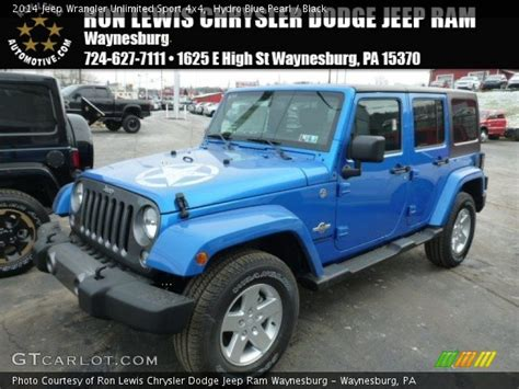 Hydro Blue Jeep Wrangler Unlimited Hydro Blue Pearl 2014 Jeep Wrangler Unlimited Sport 4x4