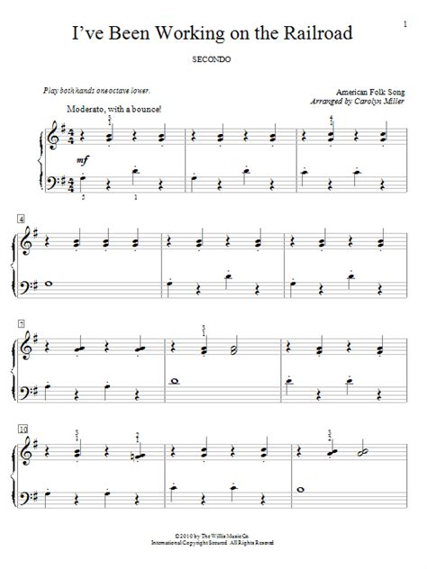 printable lyrics to i ve been working on the railroad i ve been working on the railroad sheet music direct