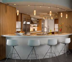 u shaped kitchen design ideas with mini pendant lighting
