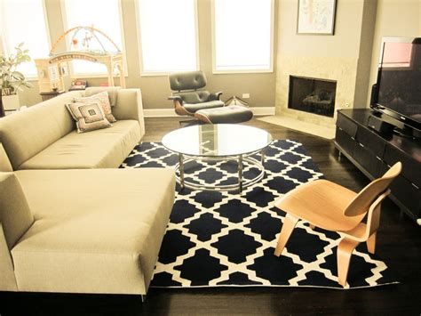 living room with sectional sofa and corner fireplace add 8 by 10 rugs with contemporary family room and round