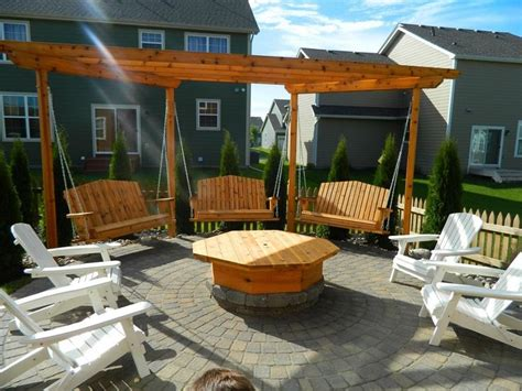 fire pit swing seating 25 best ideas about fire pit seating on pinterest cheap