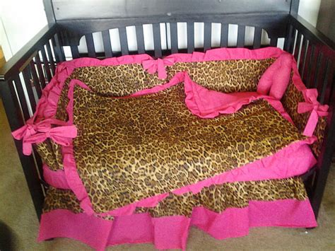 cheetah print crib bedding new hot pink and brown cheetah baby crib bedding set