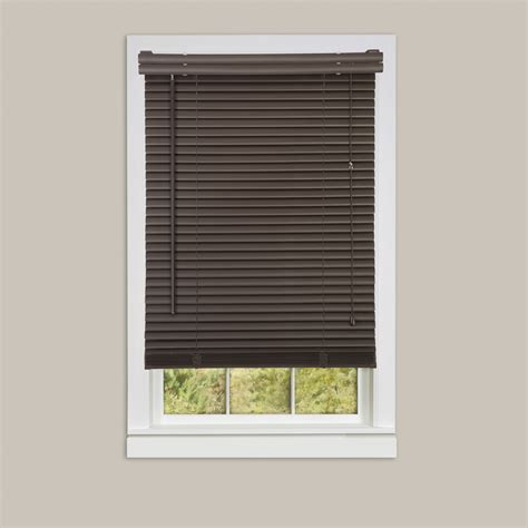 Vinyl Mini Blinds Inexpensive Mini Blinds 27x64 Vinyl Chocolate