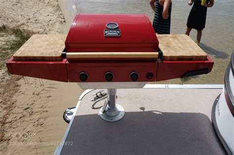 bbq grill for pontoon boat photograph custom made pontoon boat propane bbq grill