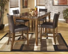 rectangular dining room counter height table