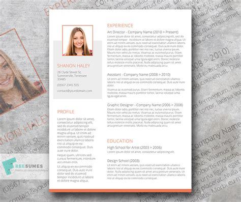 creative cv profile exles creative cv template giveaway shades of orange