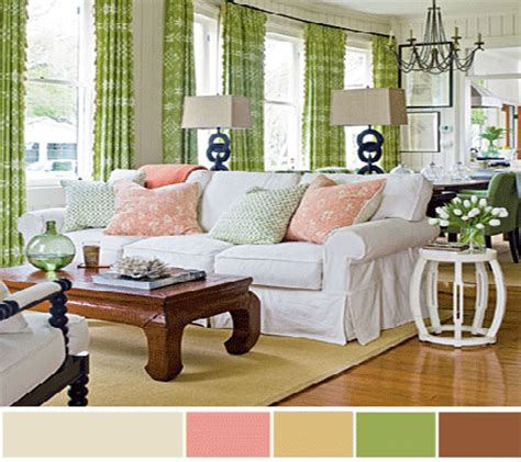 home decor paint color schemes window curtains ideas for living room in green home