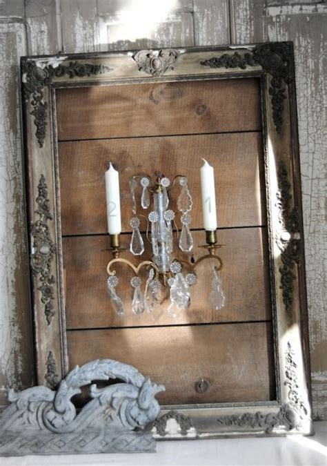 Bilderrahmen Mit Kerzenhalter by Candles Within A Frame Shabby Chic