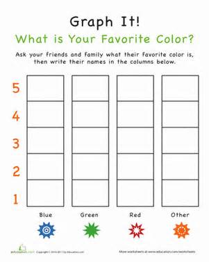 color graph worksheets education