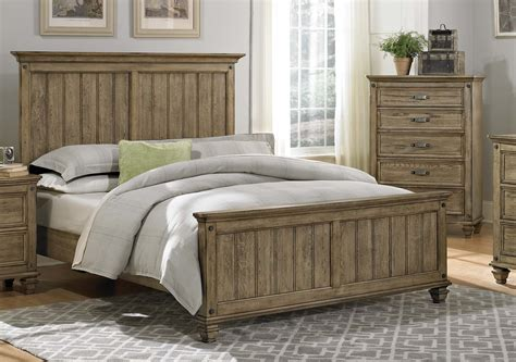 homelegance sylvania bedroom set driftwood oak 2298 bed