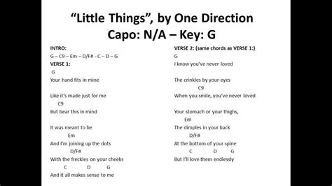 One Direction You And I Guitar Chords Gallery - guitar chords finger ...