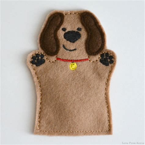 puppy puppet brown puppy finger puppet from madeit au