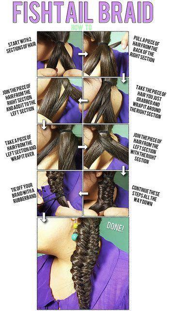 howtododoughnut plait in hair fishtail braid my style pinterest fishtail braids