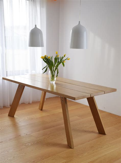 Handmade Wood Dining Table - handmade solid wood dining table contemporary design