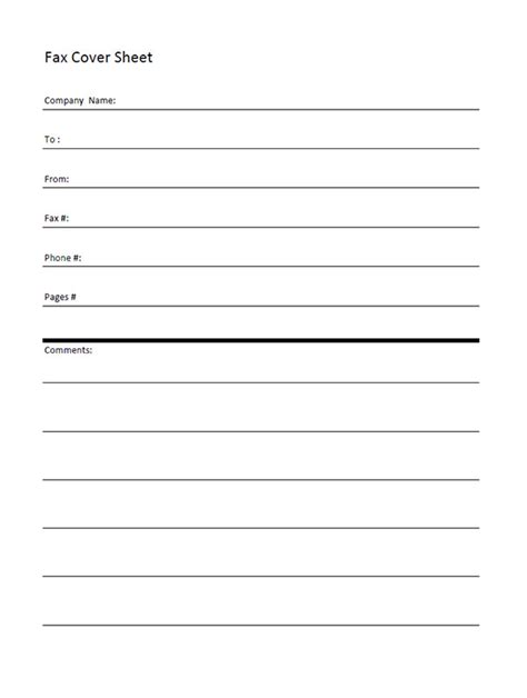 fax face sheet fax cover letter template sample fax cover sheet