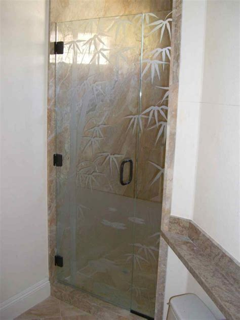Etched Shower Doors Bmbo Frmls Glass Shower Doors Etched Glass Asian Decor
