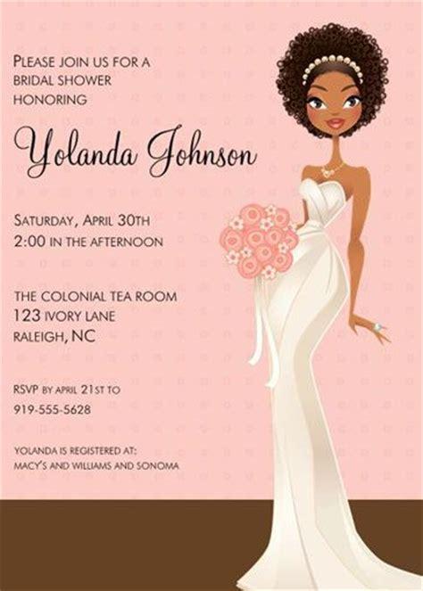 printable african american bridal shower invitations african american bridal shower decorations lane