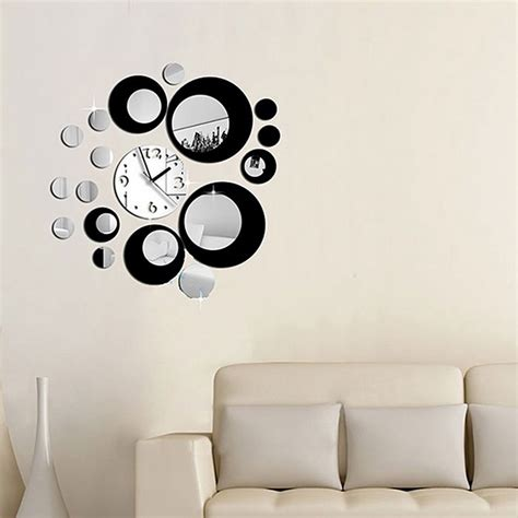 Sale Wall L Sticker Wall Sticker Led Nyala Owl removable clock mirror diy wall stickers decal black silver free shipping dealextreme