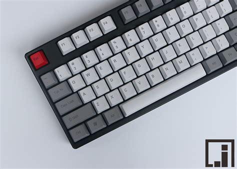 Dijamin Goodgame Keycaps 104 Grey 1976 keycaps mechanical keyboard thick pbt keycap cherry