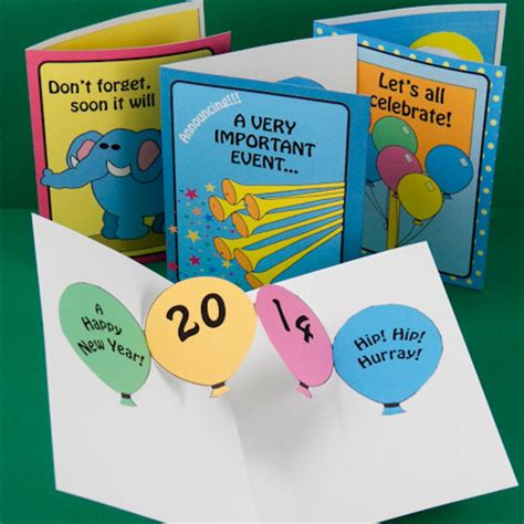 new year cards craft make new year pop up cards and invitations pop up cards
