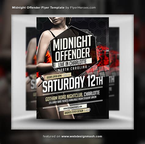 20 new free club flyer templates website design