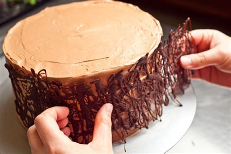 Chocolate Fudge Cake Decoration Ideas by Chocolate Cake With Fudge Filling And Chocolate