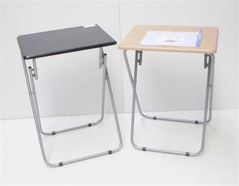 fold up table black wooden portable folding fold up cing side tv table 48x38x65cm ebay