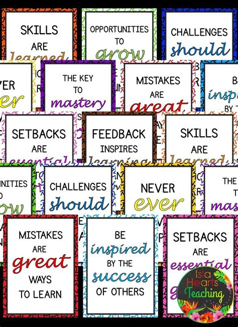 Grow With A Thematic Course For Elementary Students free growth mindset posters classroom d 233 cor bulletin board ideas for your elementary