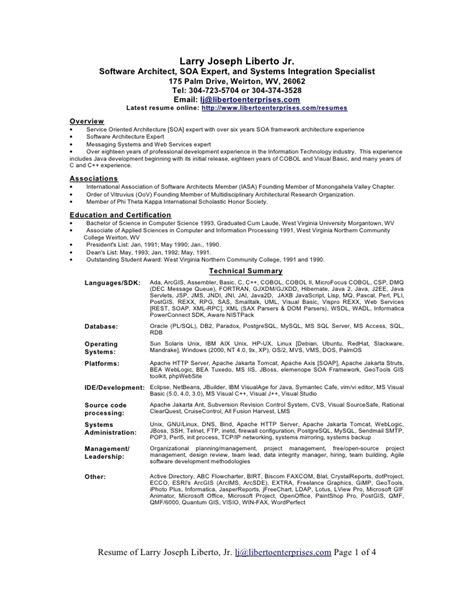 resume format word document resume exles word document