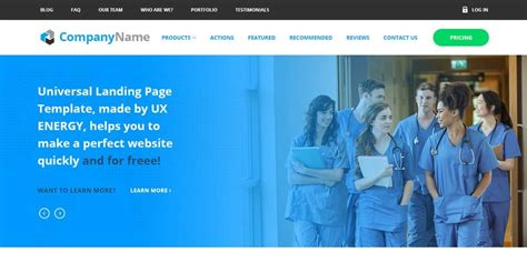 free college website templates in php beautiful landing page templates psd