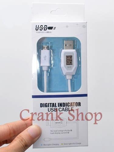 Usb Cable Data Led Indicator Nyala Kabel Charger For Oppo jual kabel usb power display volt ere digital