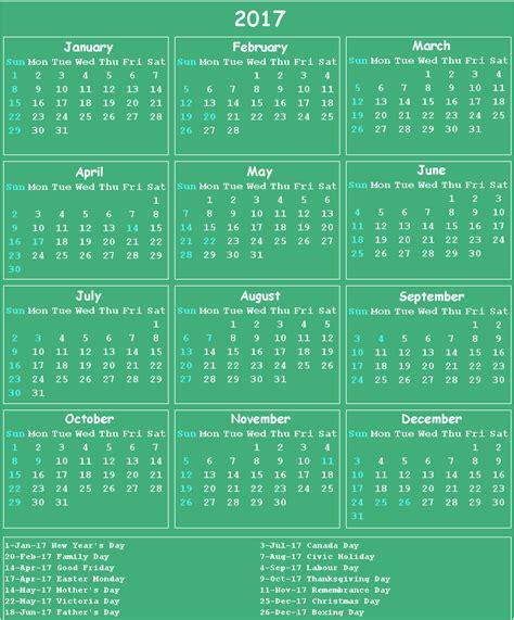 Big Calendar Canada 2017 Calendar Big 2017 Calendar Printable For