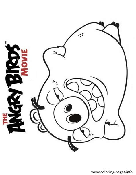 angry birds movie coloring pages angry birds movie pig coloring pages printable
